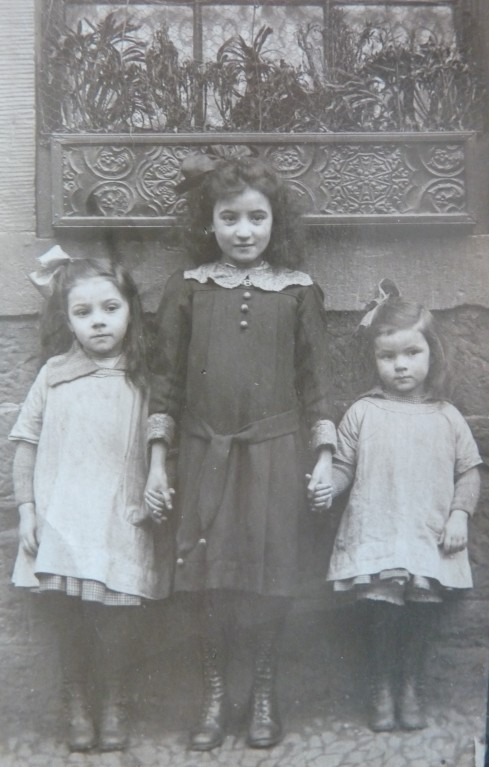 My maternal great-aunts, Ann and Mary Neilson, with a neighbourhood friend, Dumbiedykes, Edinburgh, circa 1920