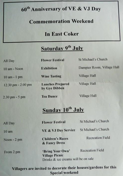 East Coker Commemorations