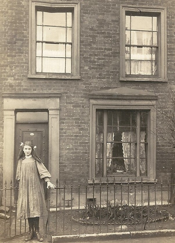 My grandmother, Edith Stops, outside the house at 95 Denmark Rd, Camberwell (circa 1910)
