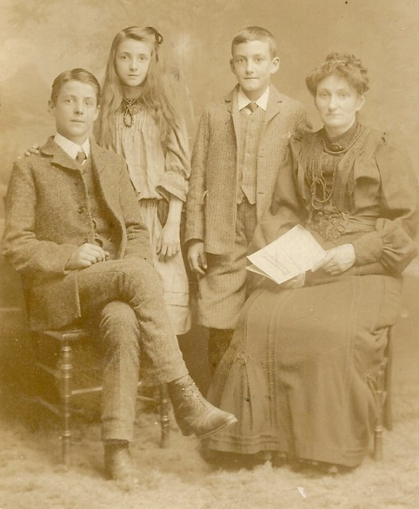 The Stops Family, 1909, 'Taken soon after father died' (c) Margaret Andrews