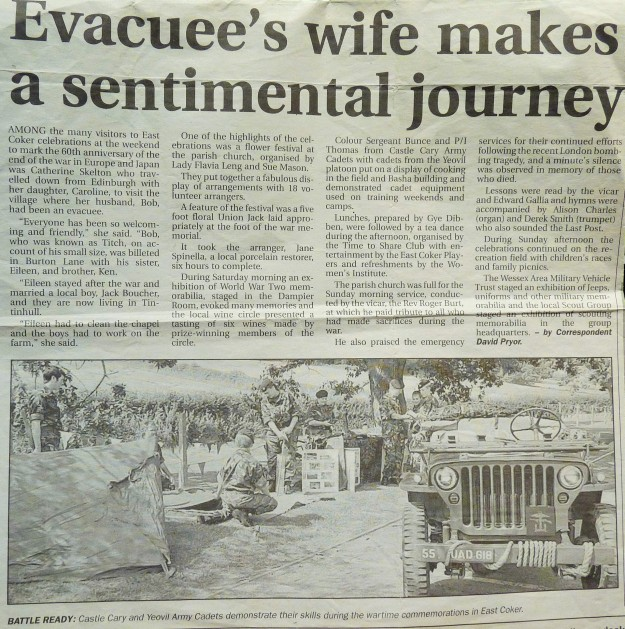 Western Gazette, July 15th 2005 (some factal inaccuracies)