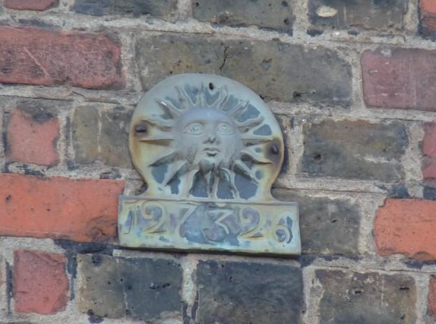 SUN FIRE INSURANCE SIGN (2)
