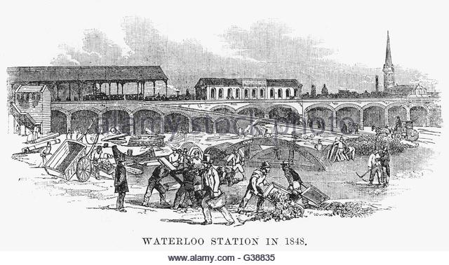 waterloo-station-and-the-surrounding-area-being-developed-date-1848-g38835