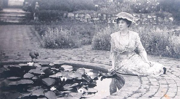 Lady Swaythling in her Gertrude Jekyll designed garden at Townhill Park House, Southampton,1920s