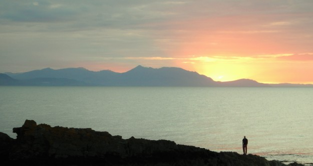 SUNSET AT DUNURE