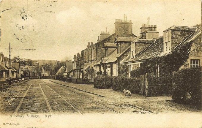 Alloway-Village-Street-Scene-Ayr-Ayrshire-Scotland-Postcard (2)