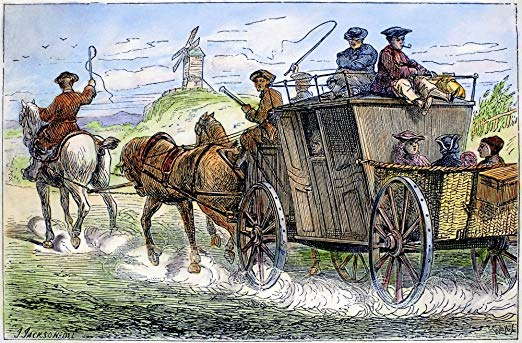 Travelling by Stagecoach 18th Century