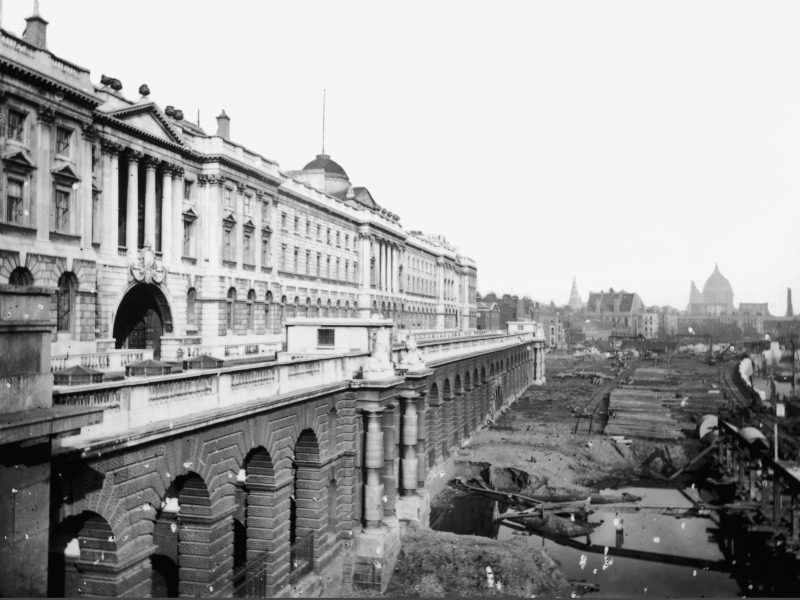 Building the Embankment behind Somerset House