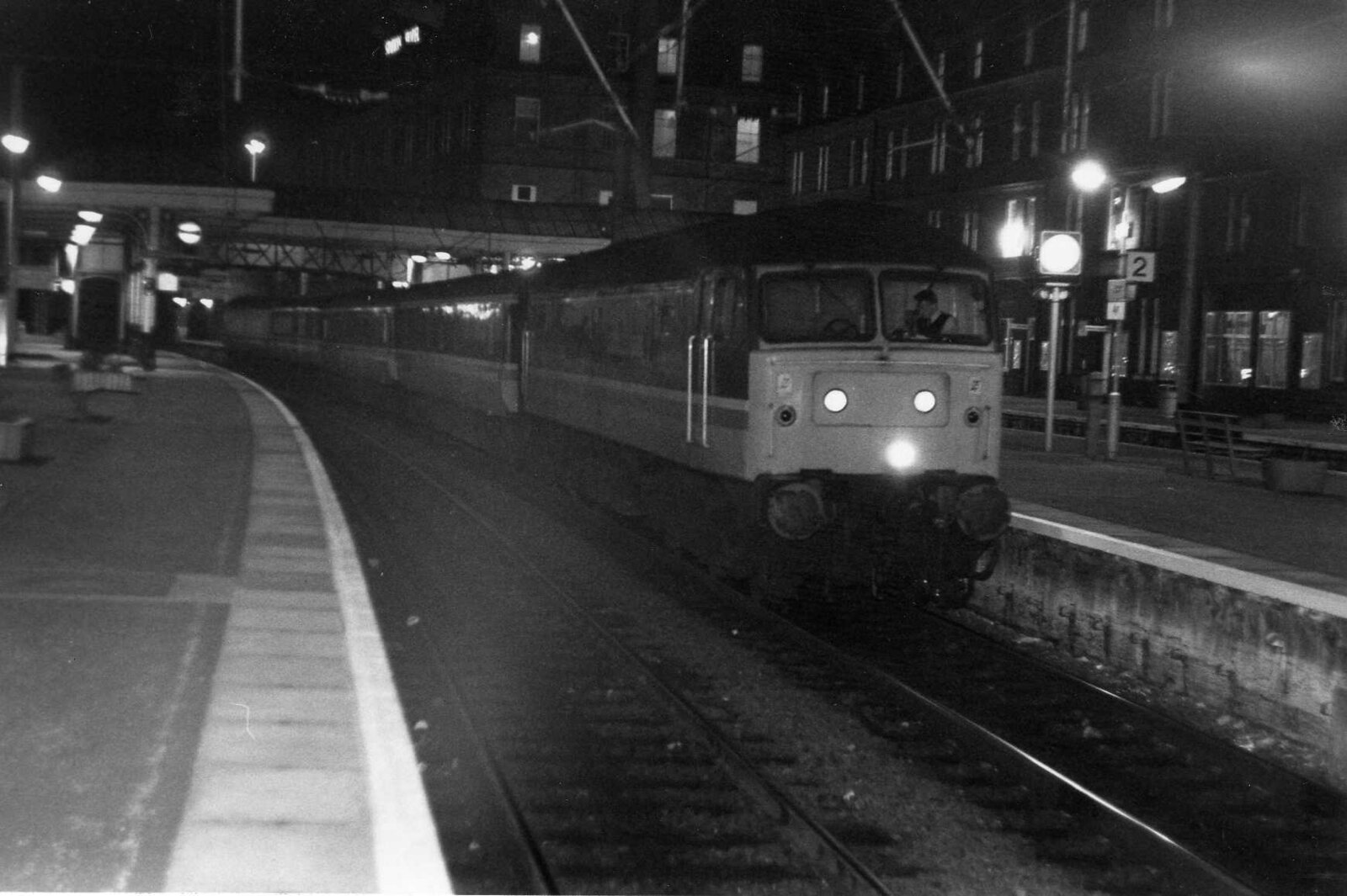 Night train from Stranraer to London in Ayr Station